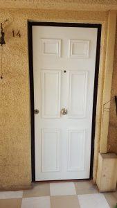 puerta enchapada blanca
