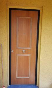 puerta enchapada