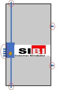 Puerta modelo Multibunker blindada Sibi de alta segurida